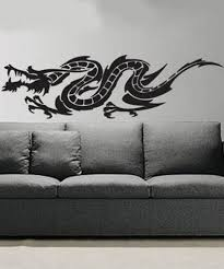 Asian Art Wall Stickers Tattoo Dragon Wall Decal
