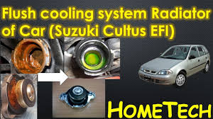 cars cooling system radiator flush