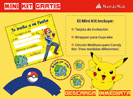 Pokemon Invitaciones Gratis Para Descargar E Imprimir Pokemon