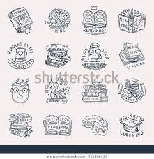 never stop learning education motivation stock vector