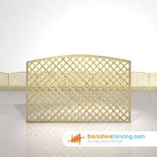 Convex Diamond Trellis Fence Panels 4ft X 6ft Natural