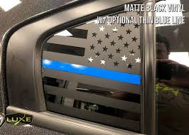 2011 Charger Rear Side Window Flag Decal