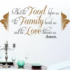 Religious Wall Decal Bless The Food Before Us The Family Beside Us