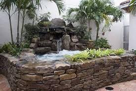 small garden waterfalls