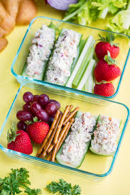 Tuna Salad Cucumber Boats Recipe - Peas ...