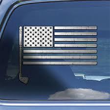 Usa Flag Golfer Decal Sticker American Flag Golf Club Window Decal Sticker Ebay