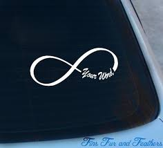 Personalized Infinity Symbol Decal Infinity Personalized Etsy