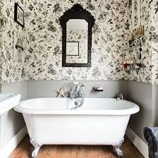 40 black and white toile wallpaper on