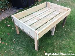 diy raised planter box myoutdoorplans