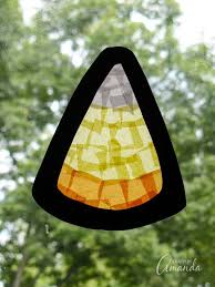 candy corn sun catcher a fun fall