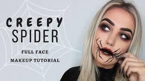 creepy spider makeup tutorial