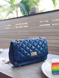 blue gansevoort quilted shoulder bag