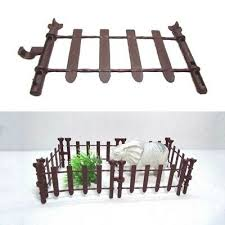 10pcs Farm Animals Fence Toy Military Fence Simulation Model Toy For Children Se