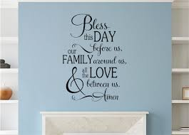 Bless This Day Before Us Vinyl Decal Wall Stickers Letters Words Home Decor