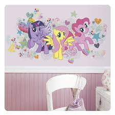 Giant Mlp Wall Decal With Twilight Fluttershy And Pinkie Found Mlp Merch