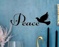 Peace Wall Decal Etsy