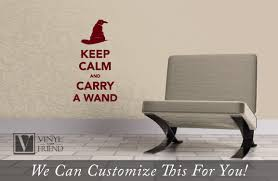 Keep Calm And Carry A Wand Harry Potter Decor A Vinyl Decal Sticker Lettering For Laptops Tablets And Walls 2325