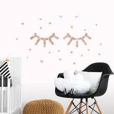 Eyelash Peel And Stick Wall Decals With Glitter Roommates Decor
