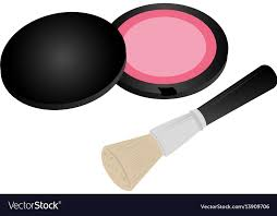 blush with brush makeup royalty free vector