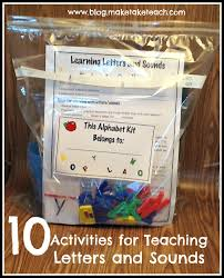 teaching and practicing letters