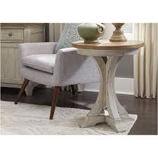liberty furniture round chair side table