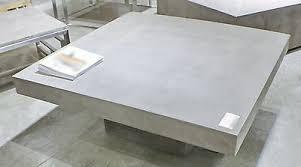 square coffee table solid concrete slab