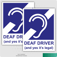 2 X Deaf Driver And Yes It S Legal Self Adhesive Stickers Safety Signs Ebay