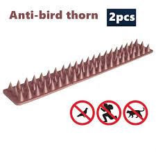 Big Discount Bfe29 2pcs Garden Fence Wall Spikes Anti Bird Thorn Bird Repellent Practical Deterrent Anti Theft Fencing Anti Cat Invasion Greenho Cicig Co
