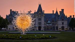 chihuly sculpture lights up biltmore in