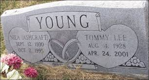 Nila and Tommy Lee YOUNG in Reed Cemetery