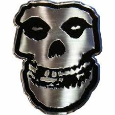 Misfits Skull Logo Metal Sticker 2 5 X 3 Brand New Car Decal 7767 Ebay