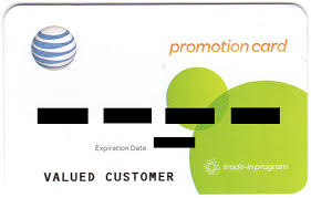 promotional card to your at t monthly bill