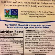 silk almondmilk original 60 calories