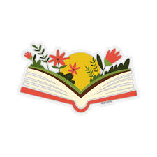 Flower Book Sticker World Book Day Reading Library Laptop Decal Vinyl Starcove Fashion
