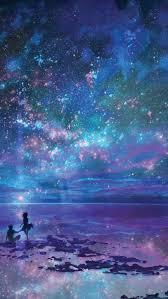 night stars ocean iphone wallpaper