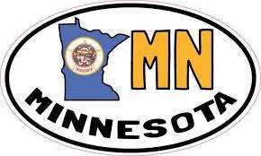5in X 3in Oval Mn Minnesota Sticker Car Truck Bumper Decal Cup Stickers Stickertalk
