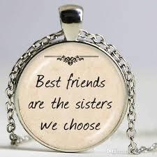sister we choose letter pendant