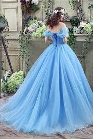 princess blue ball gown off shoulder