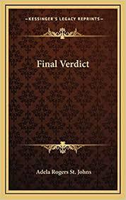 Amazon | Final Verdict | St Johns, Adela Rogers | Literary