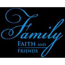 Family Faith And Friends Vinyl Decal Sticker Quote Large Sky Blue Walmart Com Walmart Com