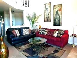 brown red living room ideas black cream