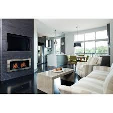 recessed bio ethanol wall mounted fireplace