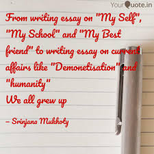 from writing essay on my quotes writings by srinjana