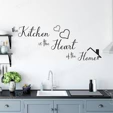 The Kitchen Is The Heart Of The Home Kitchen Wall Stickers For Kitchen Quote Wall Decals