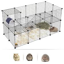 Best Promo A0db93 Diy Combination Wire Mesh Pet Cage Dog Cat Rabbit Cage Multi Function Fence Iron Cage Guinea Pig Metal Hamster Cages Cicig Co