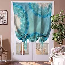 Amazon Com Houselookhome Curtain Roman Blinds Aqua Window Blind Fabric Curtain Drapery Tie Dye Ombre Circles For Kids Room Highly Durable Rod Pocket Panel 36 W X 72 L Home Kitchen