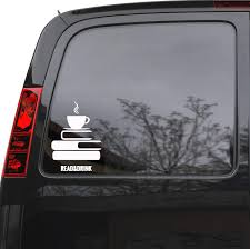 Auto Car Sticker Decal Read Books Drink Coffee Truck Laptop Window 5 Wallstickers4you
