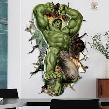 3d Cartoon Super Hero Avengers Hulk Wall Sticker Kids Room Decor Vinyl Decal Ebay