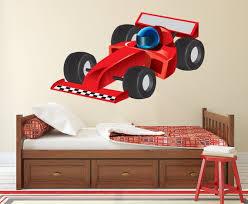Race Car Wall Decal Formula 1 Racing Car Wall Art Kids Etsy