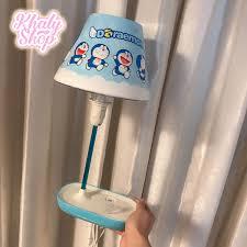 Đèn ngủ và đèn học để bàn ghim điện hình Doremon màu xanh dành cho ...